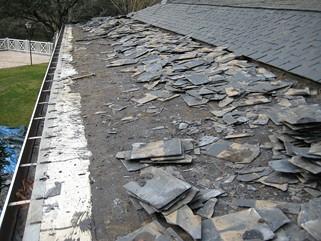 Reparacion tejado de pizarra en La Moraleja