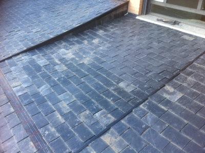 Reparacion tejado de pizarra en el Encinar La Moraleja