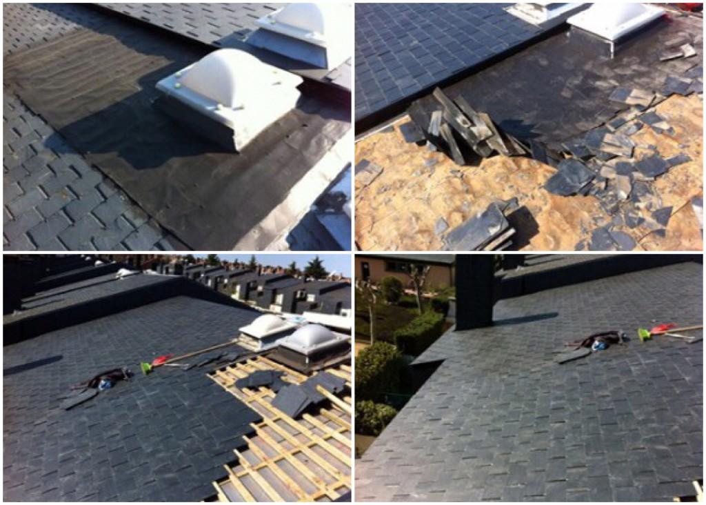 Reparacion de tejados de pizarra en las Rozas de madrid