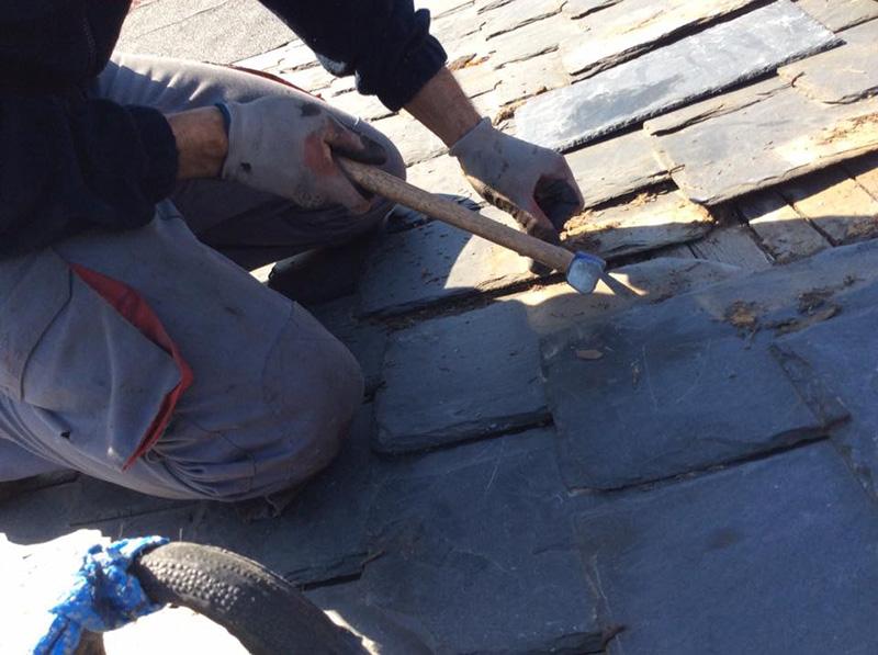 Tejados de pizarra, Reparación y Arreglo de goteras