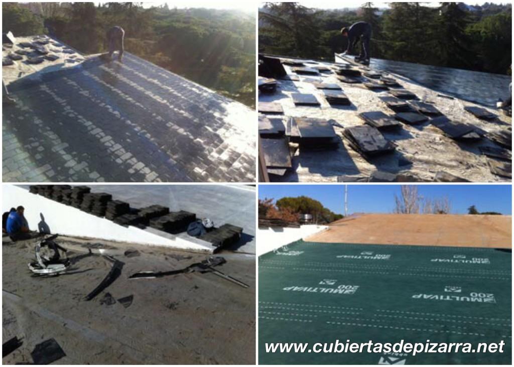 reparacion tejados de pizarra en Villaviciosa de Odón
