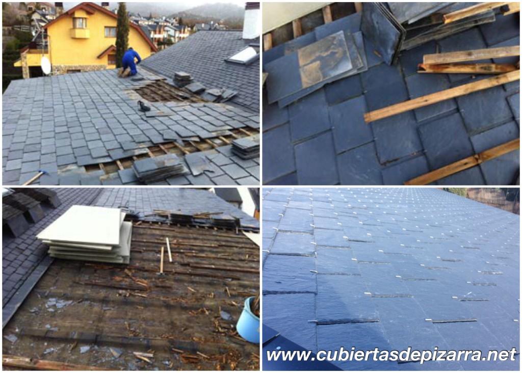 reparacion tejados pizarra Villalba