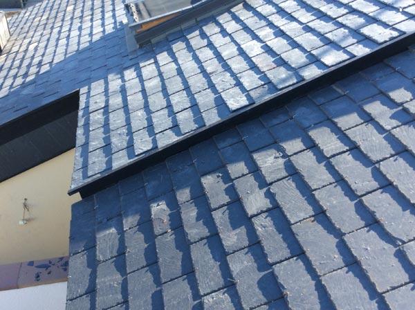 Rehabilitación de tejados de pizarra en Chalets adosados ó pareados