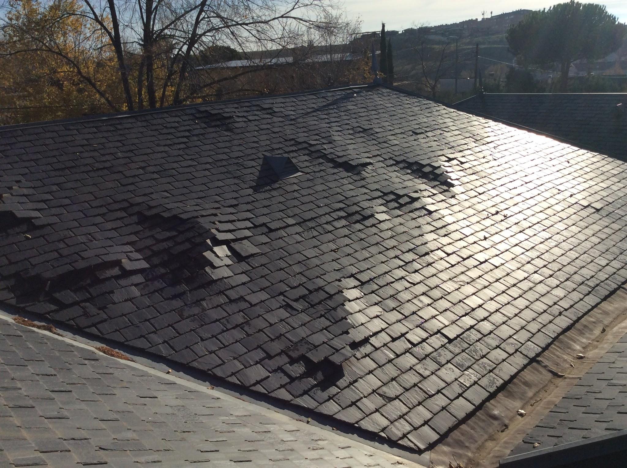 Reparaci n de tejados de pizarra madrid arreglo de goteras - Cubierta de pizarra ...