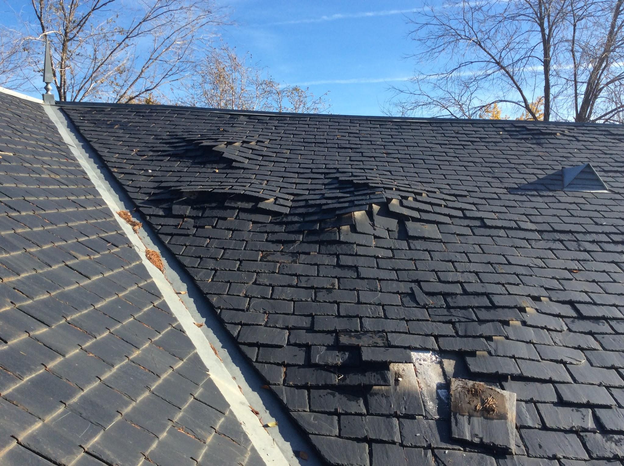 Reparaci n de tejados de pizarra madrid arreglo de goteras - Tejado de pizarra ...