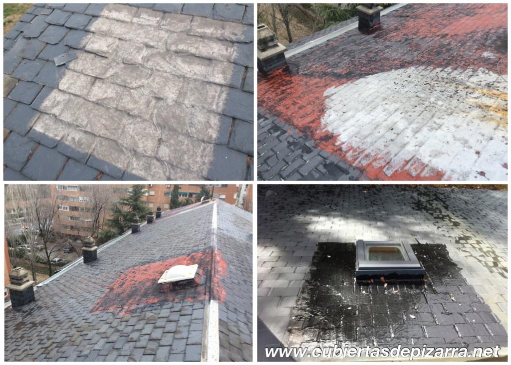 Reparaciones en tejados de pizarra
