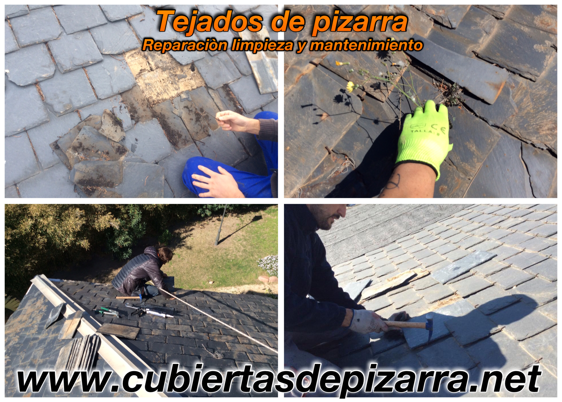 pizarras rotas en el tejado madrid