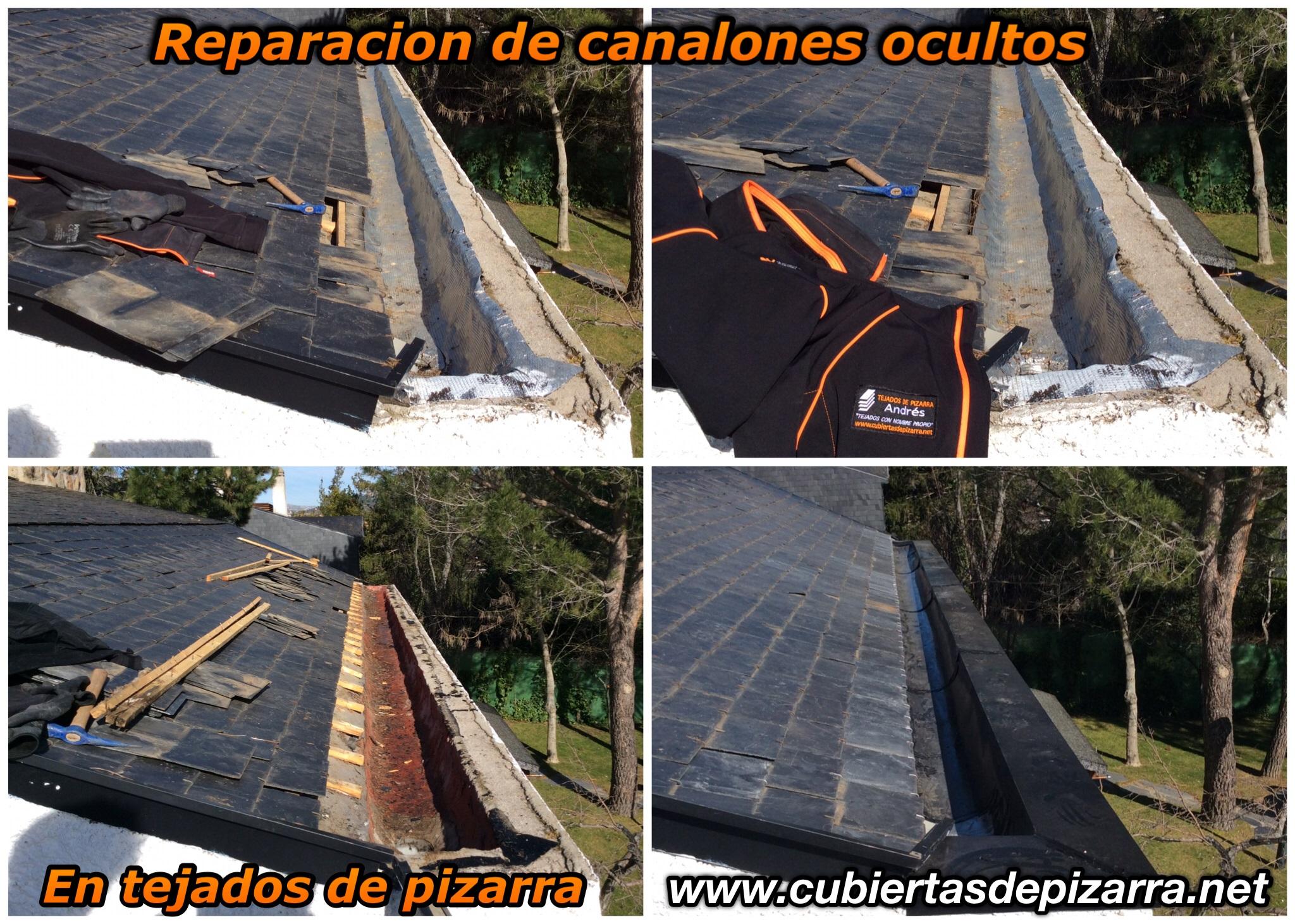 reparacion canalones tejados pizarra