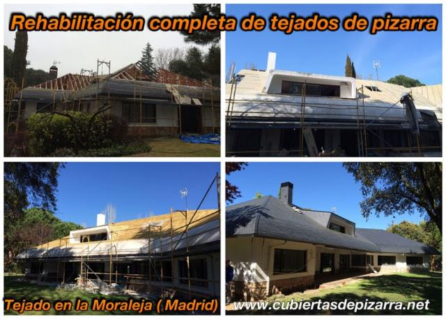 rehabilitacion completa tejados de pizarra