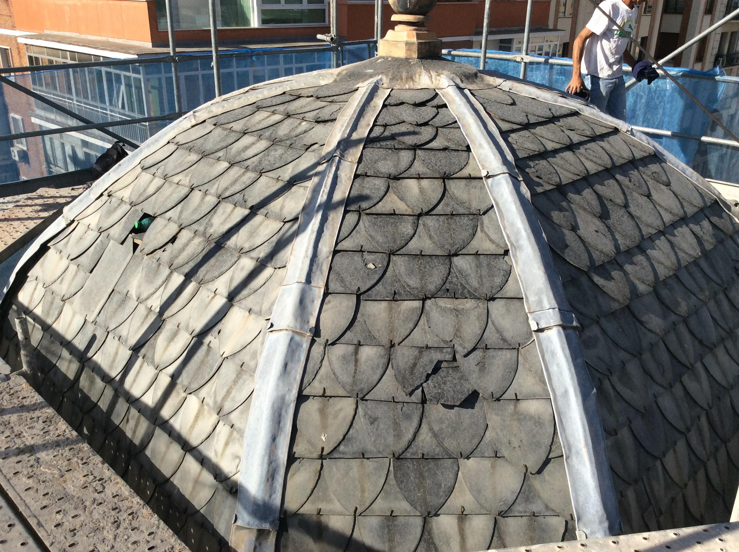 cupula de tejado de pizarra ne madrid