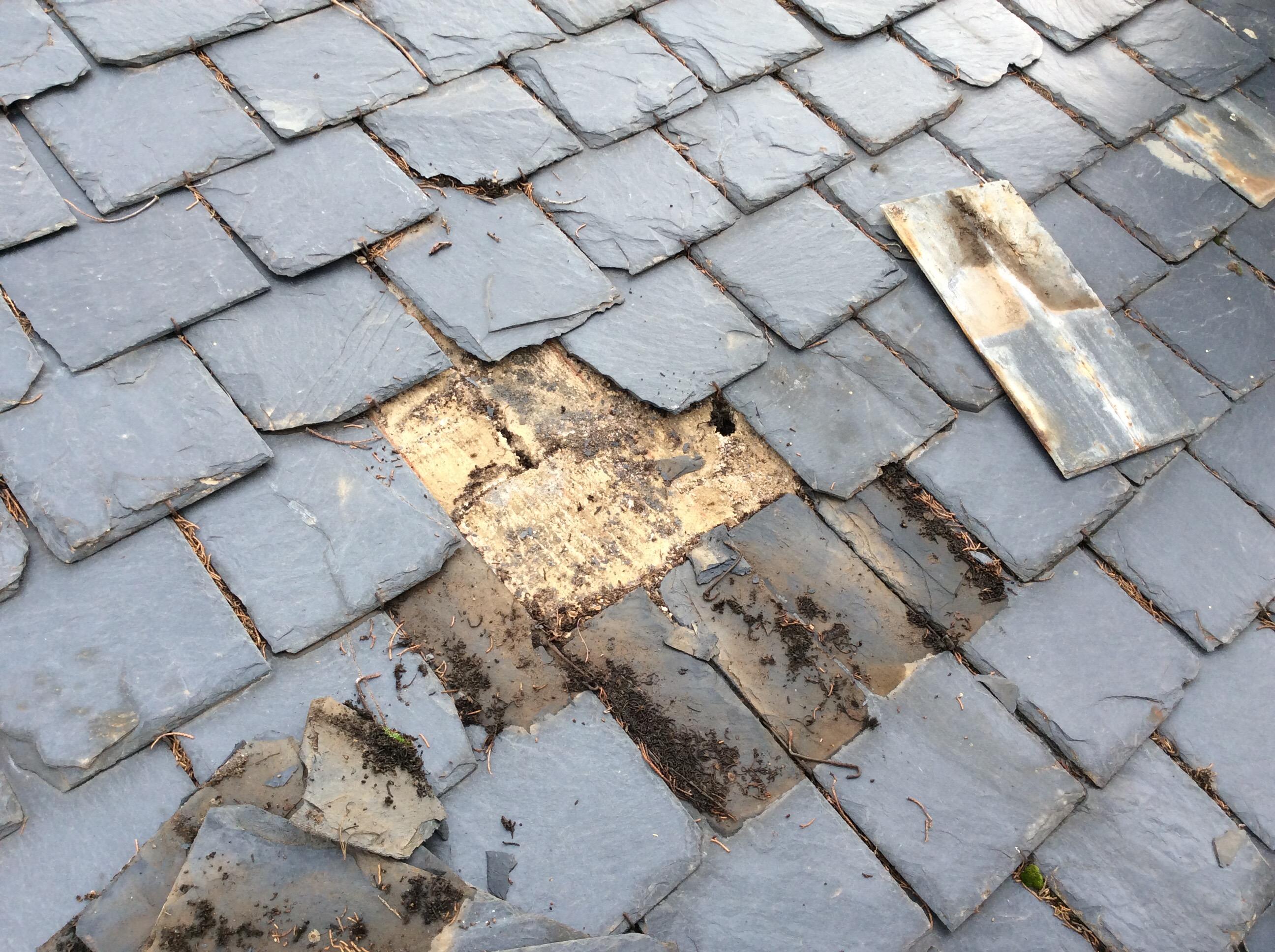 arreglar tejado de pizarra