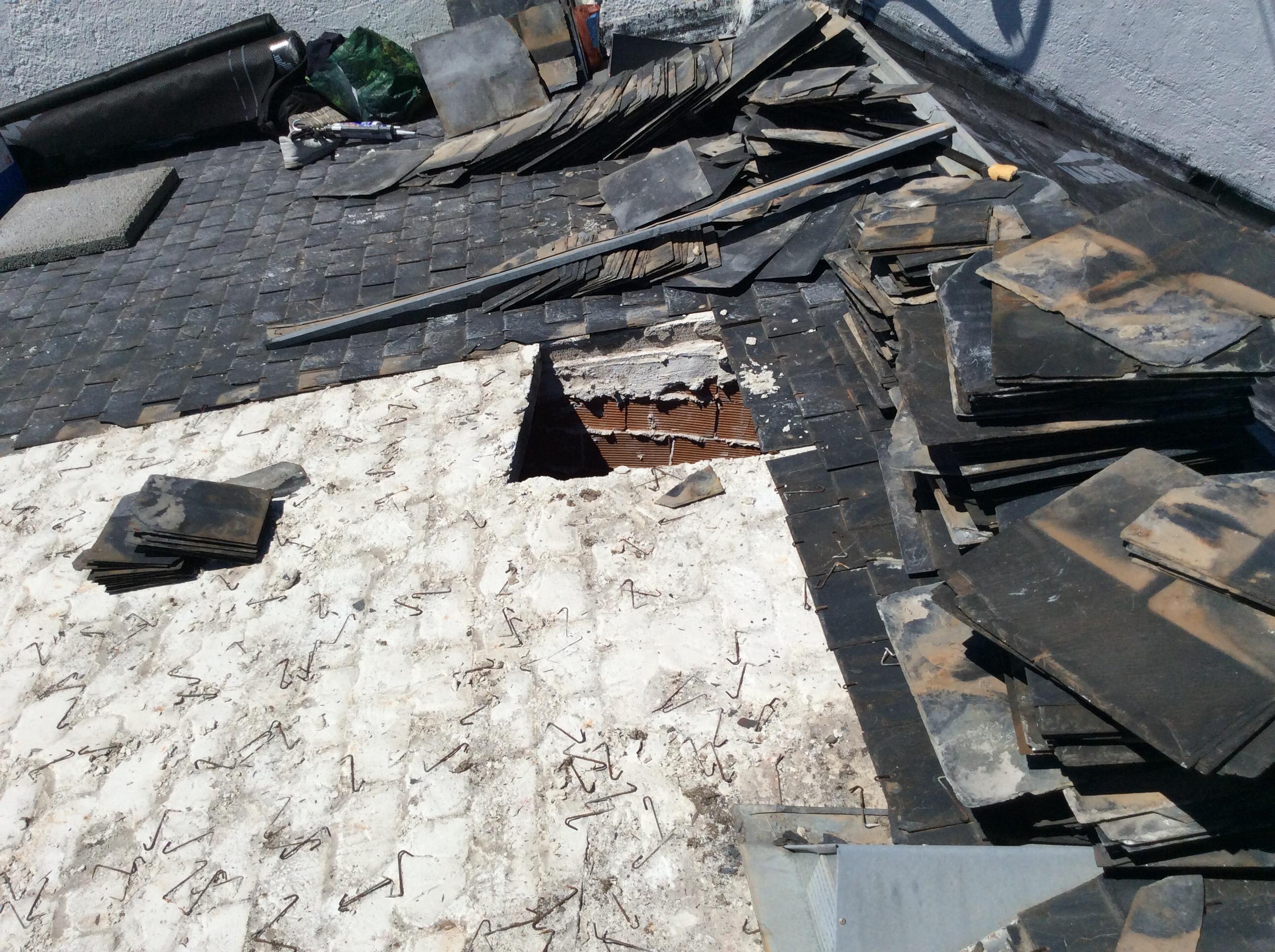 tejados de pizarra con base de yeso itong