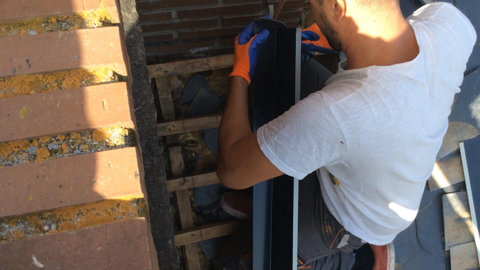 arreglar humedades tejado de pizarra