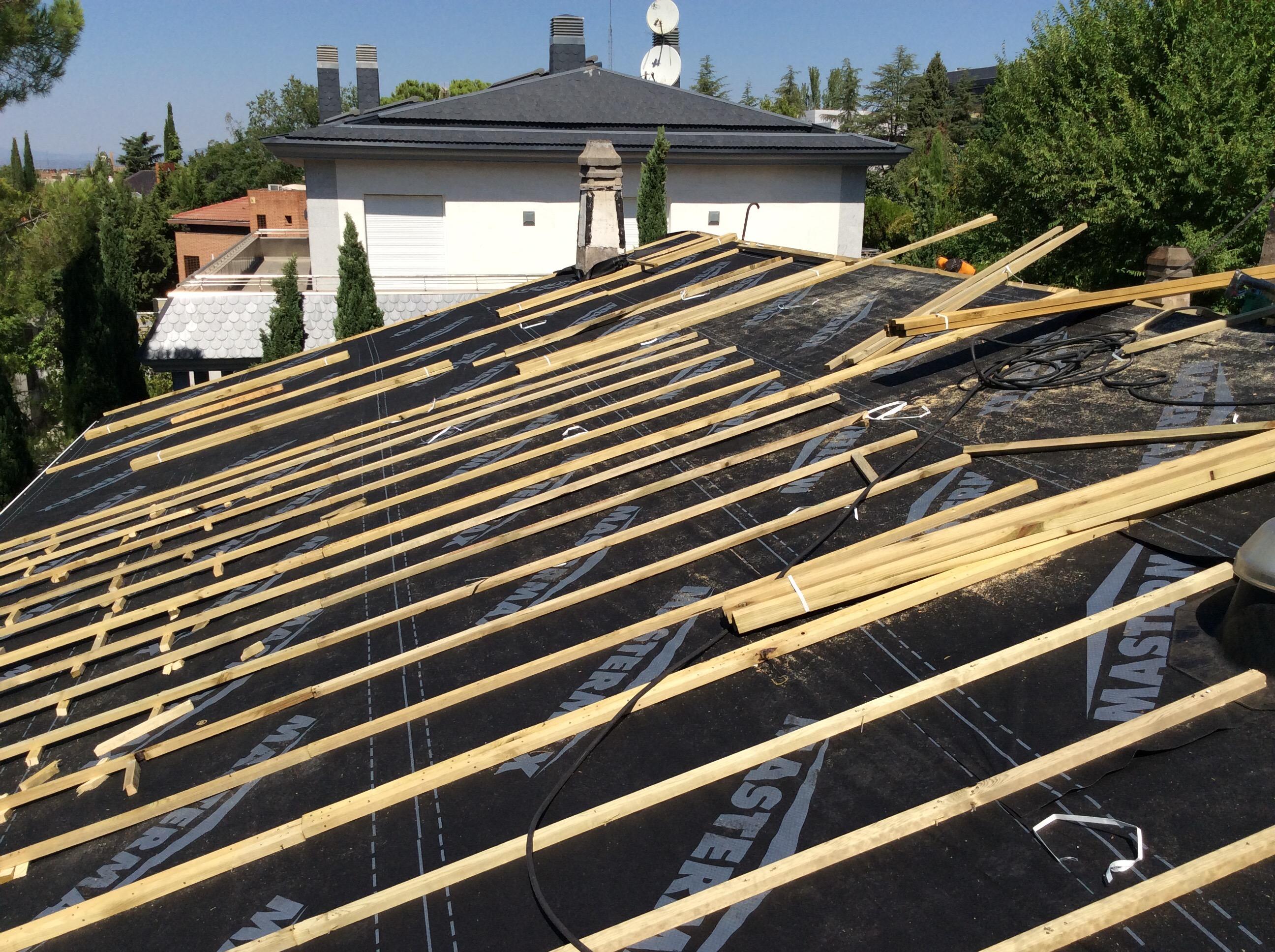 Como colocar pizarra en tejado great pizarra con ganchos - Tejado de pizarra ...