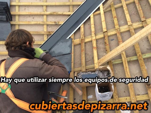 como pisar un tejado de pizarra
