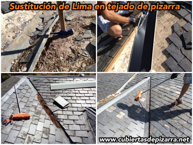 reparación de goteras tejados pizarra