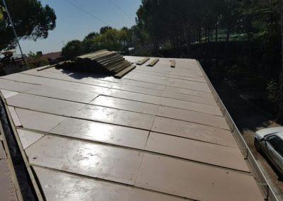tejado de pizarra con aislamientoo termico en Villanueva de la cañada