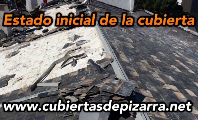 Precio de desmontar tejado de pizara