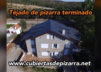 tejado de pizarra terminado en Los Molinos