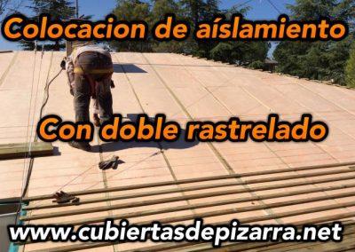colocación de aislamiento termico con doble rastrel en Villanueva de la cañada
