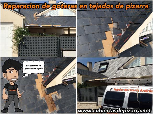 tejados de pizarra en Moralzarzal (Madrid)
