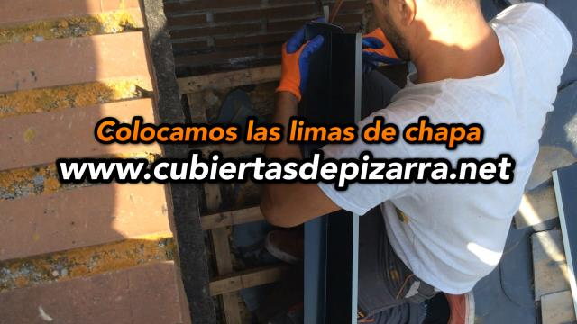 Tejados de pizarra en Galapagar (Madrid)