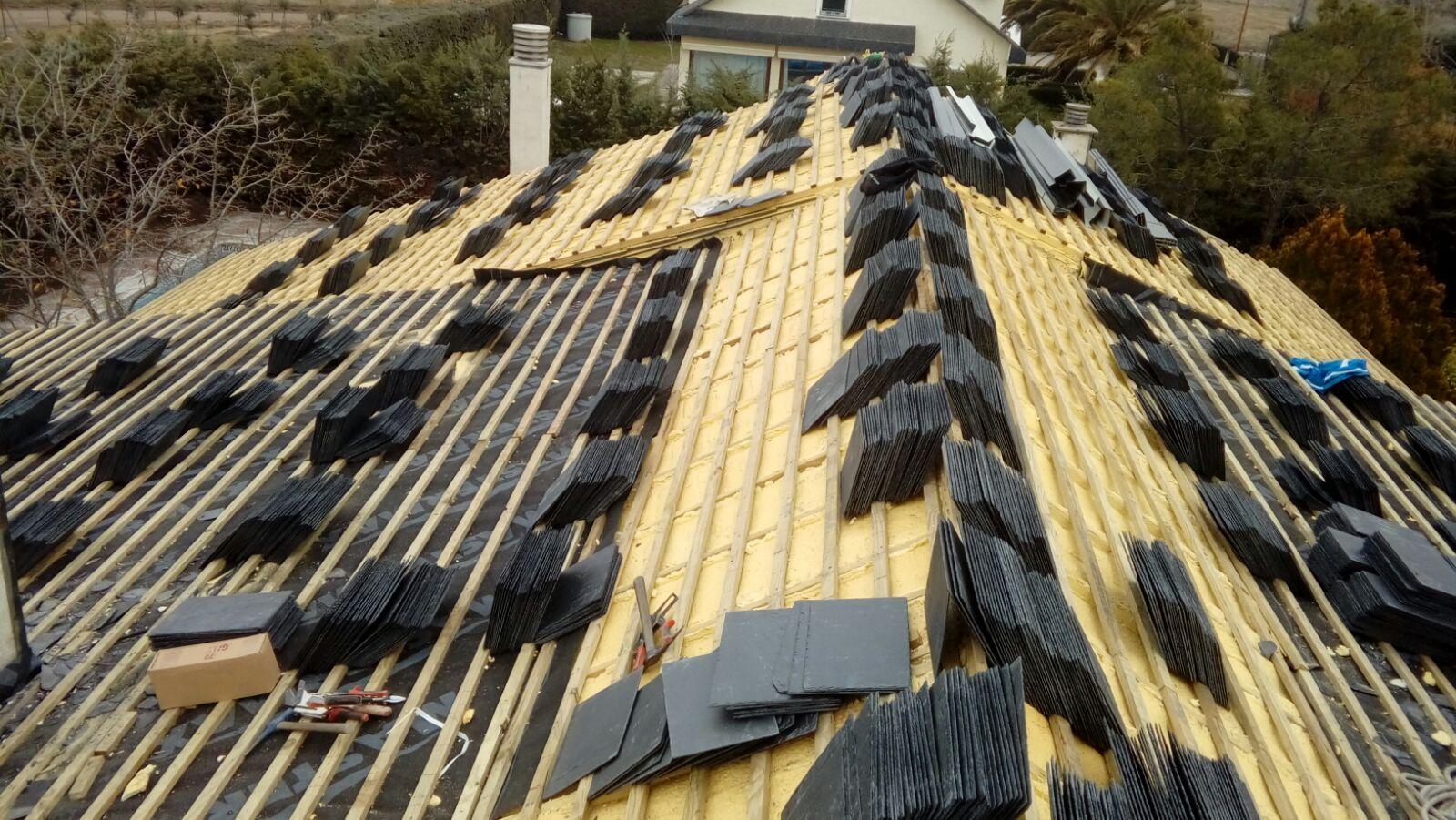 Reparaci n de tejados de pizarra en brunete andr s ramos - Tejados de pizarra ...
